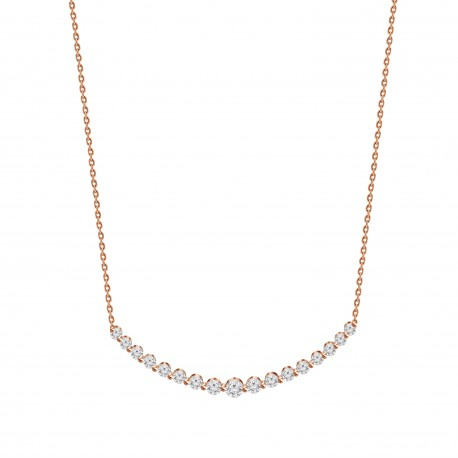 Diamond Crescent Necklace(Large)