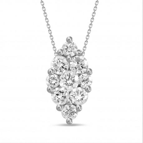 Diamond Marquise Pressure Setting Necklace(Large)