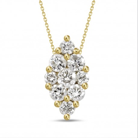 Diamond Marquise Pressure Setting Necklace(Large)