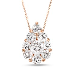 Diamond Pear Pressure Setting Necklace(Large)