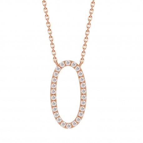 Diamond Open Oval Necklace