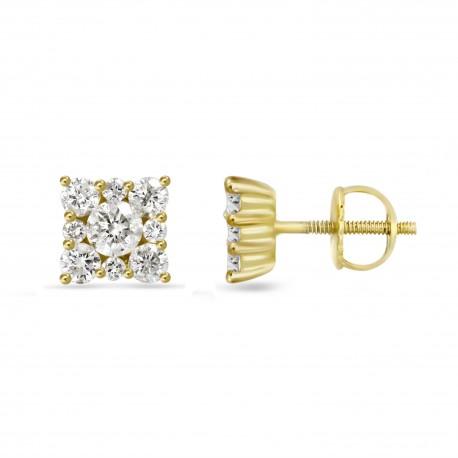 Diamond Square shaped earring(Small)