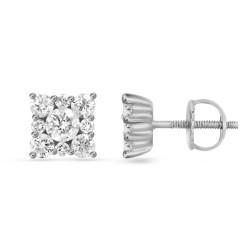 Diamond Square shaped  Earring(Medium)