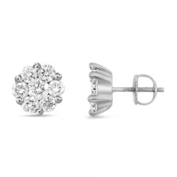 Diamond Round shaped Earring(Small)
