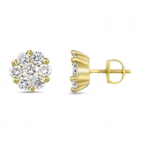 Diamond Round shaped Earring(Small)