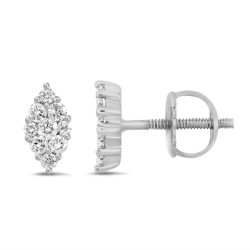 Diamond Marquise shape earring(Small)