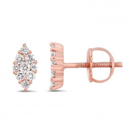 Diamond Marquise shape earring(Small)