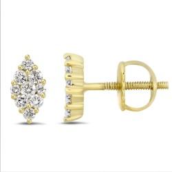 Diamond Marquise shape Earring(Medium)