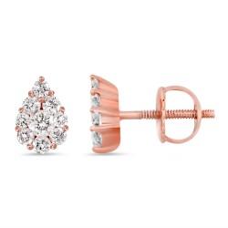 Diamond Pear shape Earring(Small)