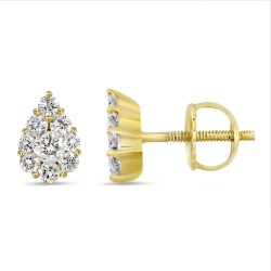 Diamond Pear shape Earring(Medium)