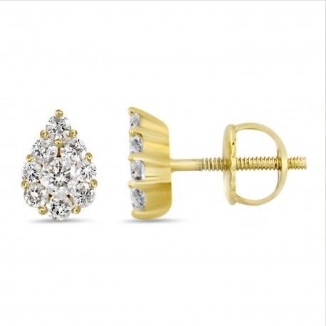 Diamond Pear shape Earring(Medium)