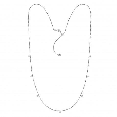 Laser Hole Diamond Station Necklace(Small)