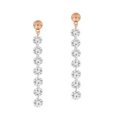 Laser Hole Diamond drop Earring