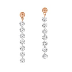 Laser Hole Diamond drop Earring