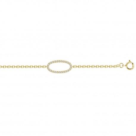 Diamond open Oval Bracelet