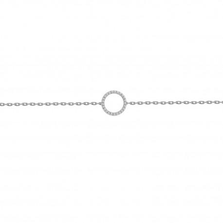 Diamond Open Circle Bracelet