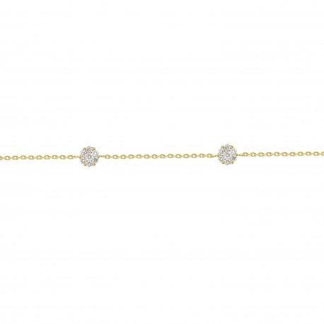Diamond Round Pressure Setting Station Bracelet