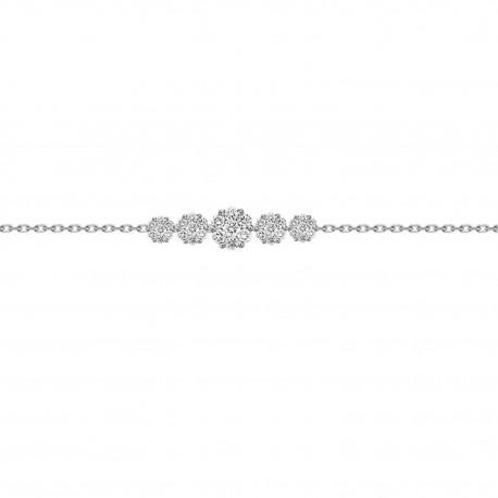 Diamond 5Round Pressure Setting  Bracelet