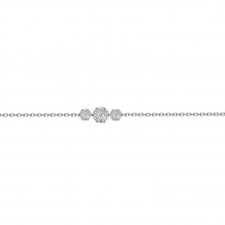 Diamond3 Round Pressure Setting  Bracelet
