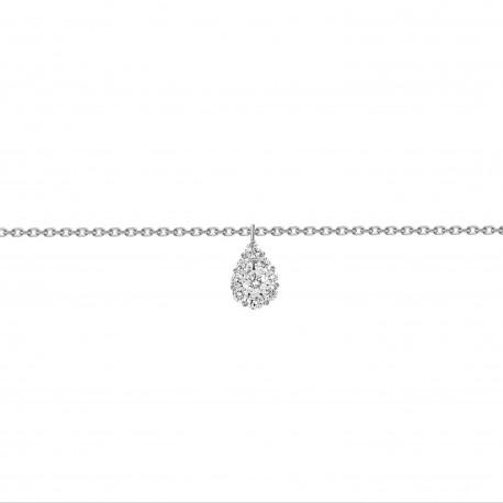 Diamond Pear Pressure Setting Bracelet