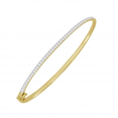 Diamond Prong Setting Bangle