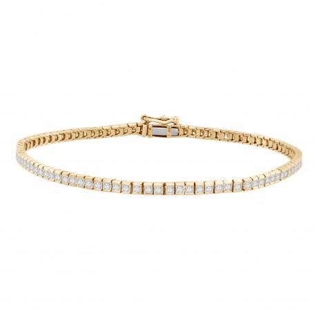 Princess-cut Diamond Bracelet