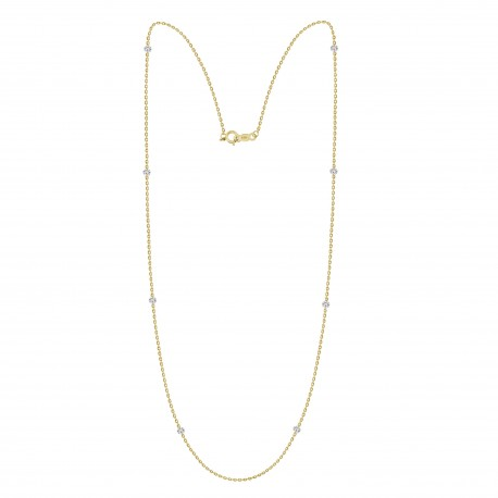Laser Hole Diamond Layered Necklace(small)