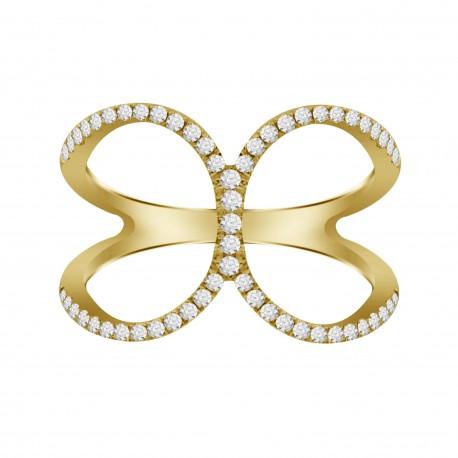 Diamond C Ring