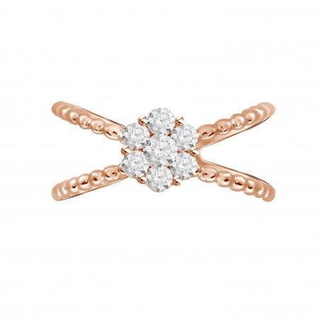 Diamond Round Pressure Setting Ring