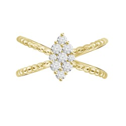 Diamond Marquise Pressure Settting Ring