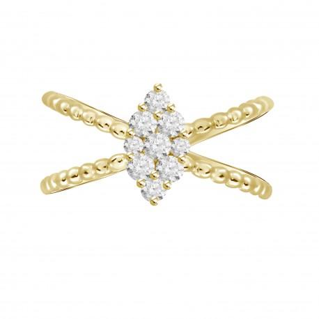 Diamond Marquise Pressure Settting Ring