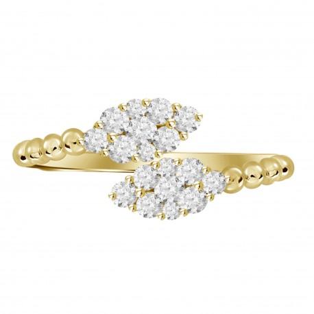Diamond Marquise Pressure Setting Twin Ring