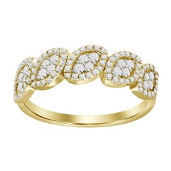 Diamond 5 Marquise Cluster Ring