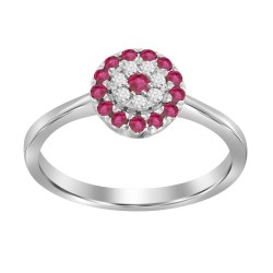 Ruby/Diamond Round shaped Ring