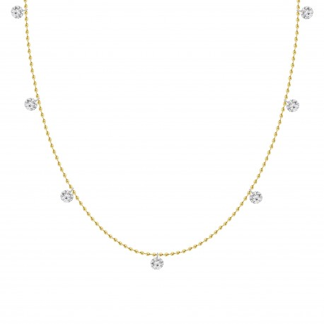 Laser Hole Diamond Station Necklace(Small)