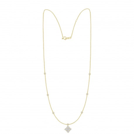 Diamond Square shaped Fashion Necklace