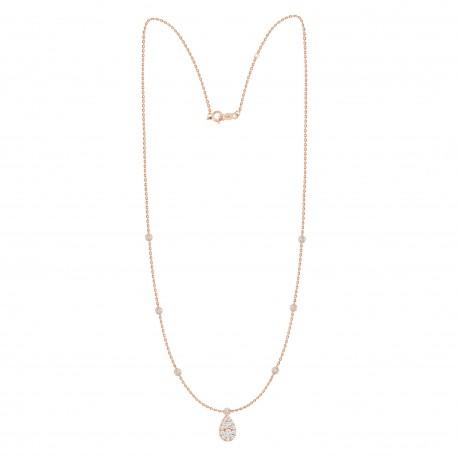 Diamond Pear shaped Fashion Necklace