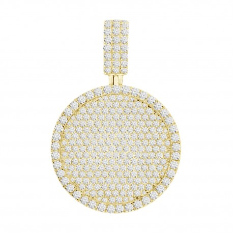Diamond Round shaped Pave setting Necklace(Large)