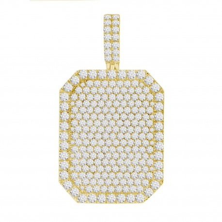 Diamond Rectangle shaped Pave Necklace(Large)